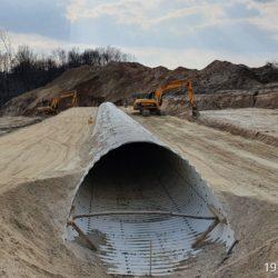 Zasypka przepustu ekologicznego w km 10+775
