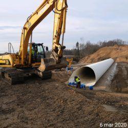 Prace pracy przepuście ekologicznym w km 10+775