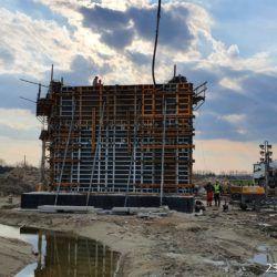 Betonowanie podpory obiektu WD-15