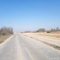 Prace na tasie głównej w km 17+150