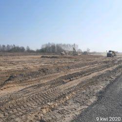 Roboty ziemne na trasie głównej w km 16+600