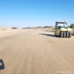 zagęszczanie nasypu w km 17+350