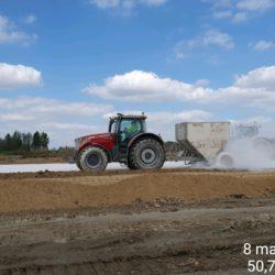 Stabilizacja chemiczna warstwy nasypu w km ok 16+100