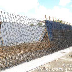 Zbrojenie ściany obiektu WS-9 w km 7+986.01