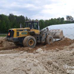 Budowa nasypu przy PZDd-2 km 1+765