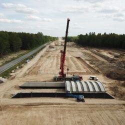 Montaż prefabrykatów OPTEM - PZDs-1 w km 0+576