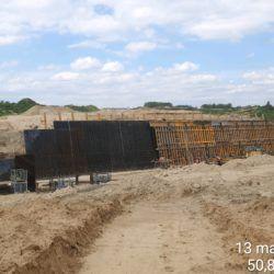 Zbrojenie i deskowanie ścian PZDsz-8 w km 5+929