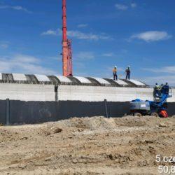 Montaż prefabrykowanych elementów betonowych OPTEM na obiekcie WS-9 w km 7+986