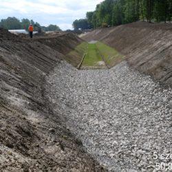 nowe koryto rzeki Karasiówka