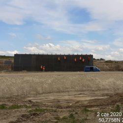 Zbrojenie i deskowanie ściany obiektu PZDs-11a w km 10+718