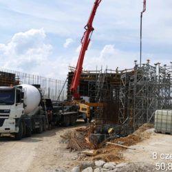 Betonowanie ustroju ramowego obiektu mostowego WS-6 w km 4+494