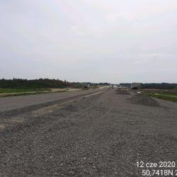 Dolna warstwa podbudowy zasadniczej w km 15+430