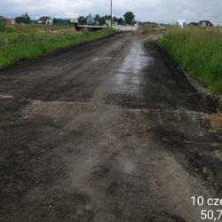 zerwany fragment drogi powiatowej nr 2802L - km 9+000