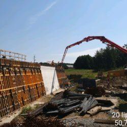 Betonowanie ściany obiektu WS-12 w km 11+201