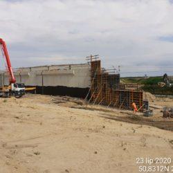 Betonowanie skrzydełek ścian WS-6