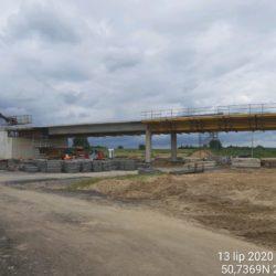 Demontaż deskowania ustroju nośnego wiaduktu drogowego WD-18 w km 17+209