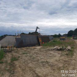Deskowanie ścian obiektu PZDsz-11a w km 10+718