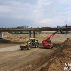Montaż deskowania pod kapy chodnikowe wiaduktu drogowego WD-7 w km 5+178