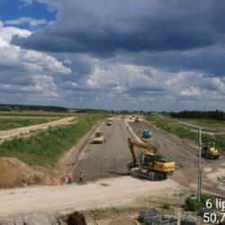 Roboty drogowe - Podbudowa pomocnicza C5_6 widok w stornę janowa Lubelskiego km 17+250