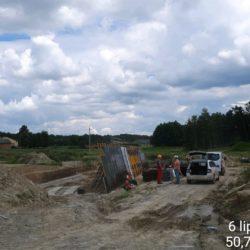 Zbrojenie i deskowanie ścian obiektu WS-12 w km 11+201