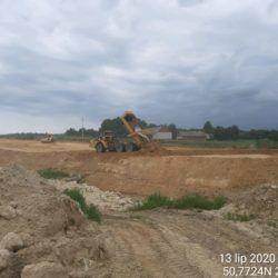 Budowa nasypu drogowego w km 11+175