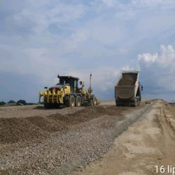 Dolna warstwa podbudowy zasadniczej km 3+950