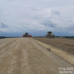 Dolna warstwa podbudowy zasadniczej w km 4+560