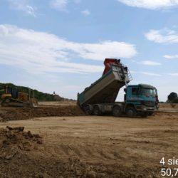 Budowa nasypu na dojeździe do obiektu WD-14 w km 13+029