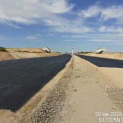Skropienie emulsją asfaltową podbudowy z kruszywa 18+000