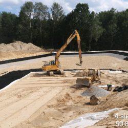 Wypełnianie dna zbiornika ZR-7 km 6+500