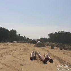 budowa wpustów ulicznych km 0+300