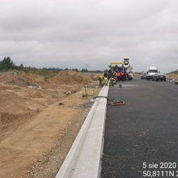 Wykonanie betonowego cieku monolitycznego 6+800