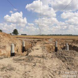 zabudowa fundamentów linii 220 kV km 8+000