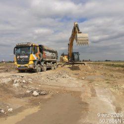 Rozbiórka istniejącej drogi powiatowej DP 2803L 9+600