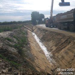 Humusowanie rowu droga dojazdowa do obiektu WD-7 km 5+178