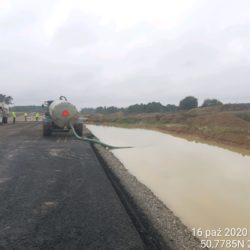 Likwidacja zastoiska wody km 10+550 strona prawa