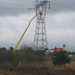 Prace na lini PSE 220 kV