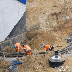 Wykonanie ławy fundamentowej pod umocnienie stażka obiektu WS-5 km 3+403