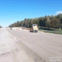 Zagęszczanie podbudowy pomocniczej C5_6 km 1+650 jezdnia lewa