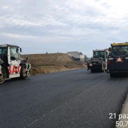 Zagęszczanie podbudowy zasadniczej w km 13+280