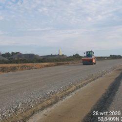 Zagęszczenia podbudowy z kruszywa km 3+ 500