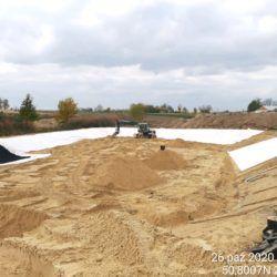 Budowa zbiornika ZR-8 km 8+000 strona prawa