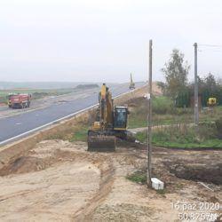 Roboty wykopowe droga dojazdowa DDL04 km 5+150