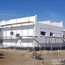 Wykonanie izolacji termicznej budynek MOP lewy