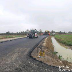 Wykonanie podbudowy z MMA droga powiatowa DP nr 2802L (WD-10)