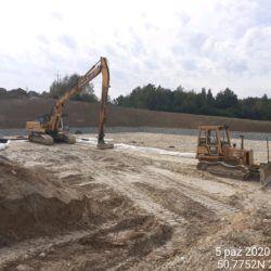 Zabudowa warstw konstrukcyjnych dna zbiornika ZR-11 10+800