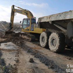 DDL05 km 2+400 (TG 7+500) - rozbiórka dróg na potrzeby technologiczne budowy