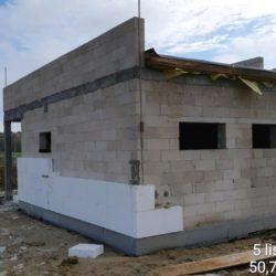 Ocieplanie budynku toalet na MOP - strona prawa