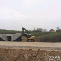 Wykonanie zasypki obiektu PZM na drodze DDP 07 (7+270)
