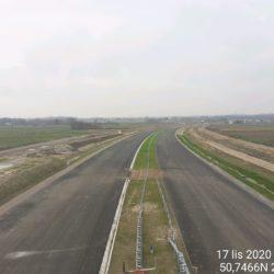 Zaawansowanie robót w kierunku na Lublin z obiektu WD-16 14+172